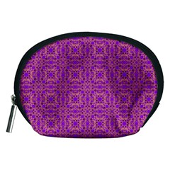 Purple Moroccan Pattern Accessories Pouch (Medium)
