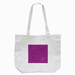 Purple Moroccan Pattern Tote Bag (White)