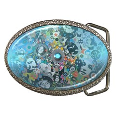 Led Zeppelin III Art Belt Buckle (Oval)