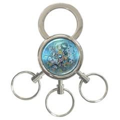 Led Zeppelin Iii Art 3 Ring Key Chain