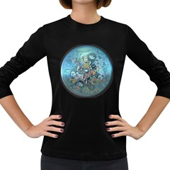 Led Zeppelin III Art Women s Long Sleeve T-shirt (Dark Colored)