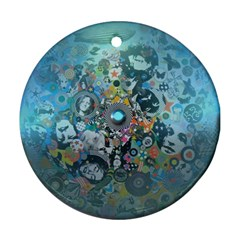 Led Zeppelin Iii Art Round Ornament (two Sides)