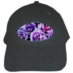Purple Wildflowers Of Hope Black Baseball Cap
