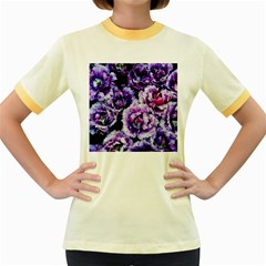 Purple Wildflowers Of Hope Women s Ringer T-shirt (Colored)
