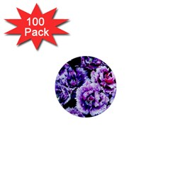 Purple Wildflowers Of Hope 1  Mini Button Magnet (100 Pack)