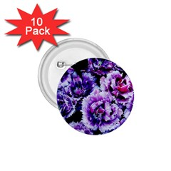 Purple Wildflowers Of Hope 1 75  Button (10 Pack)