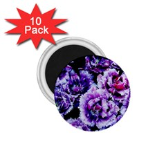 Purple Wildflowers Of Hope 1 75  Button Magnet (10 Pack)