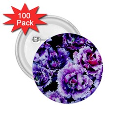 Purple Wildflowers Of Hope 2.25  Button (100 pack)