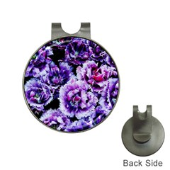 Purple Wildflowers Of Hope Hat Clip with Golf Ball Marker