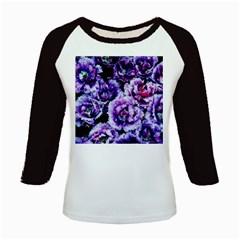 Purple Wildflowers Of Hope Kids Long Cap Sleeve T-Shirt
