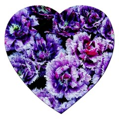 Purple Wildflowers Of Hope Jigsaw Puzzle (heart)