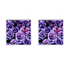 Purple Wildflowers Of Hope Cufflinks (Square)