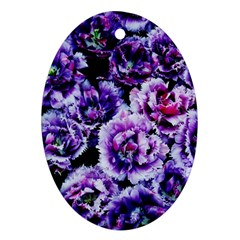 Purple Wildflowers Of Hope Oval Ornament (Two Sides)