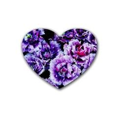 Purple Wildflowers Of Hope Drink Coasters 4 Pack (heart)