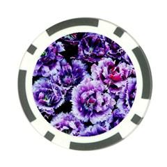 Purple Wildflowers Of Hope Poker Chip
