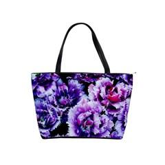 Purple Wildflowers Of Hope Large Shoulder Bag