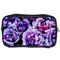 Purple Wildflowers Of Hope Travel Toiletry Bag (two Sides)