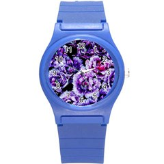 Purple Wildflowers Of Hope Plastic Sport Watch (Small)