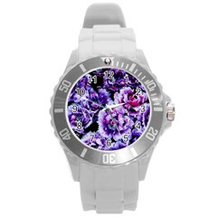 Purple Wildflowers Of Hope Plastic Sport Watch (large)
