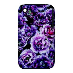 Purple Wildflowers Of Hope Apple iPhone 3G/3GS Hardshell Case (PC+Silicone)