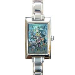 Led Zeppelin Iii Art Rectangular Italian Charm Watch