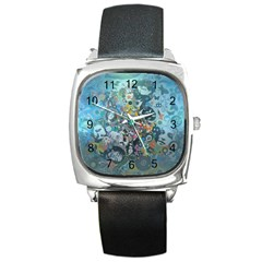 Led Zeppelin Iii Art Square Leather Watch