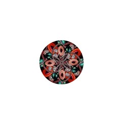 Luxury Ornate Artwork 1  Mini Button Magnet