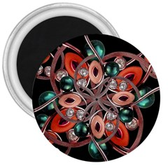 Luxury Ornate Artwork 3  Button Magnet