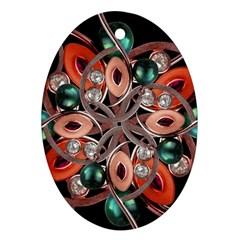 Luxury Ornate Artwork Oval Ornament