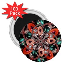 Luxury Ornate Artwork 2.25  Button Magnet (100 pack)
