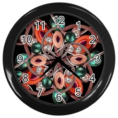 Luxury Ornate Artwork Wall Clock (black)