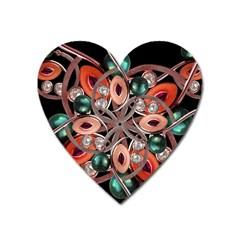 Luxury Ornate Artwork Magnet (heart)