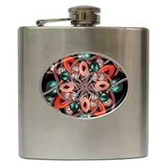 Luxury Ornate Artwork Hip Flask