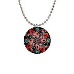 Luxury Ornate Artwork Button Necklace