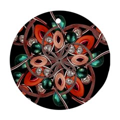 Luxury Ornate Artwork Round Ornament (Two Sides)