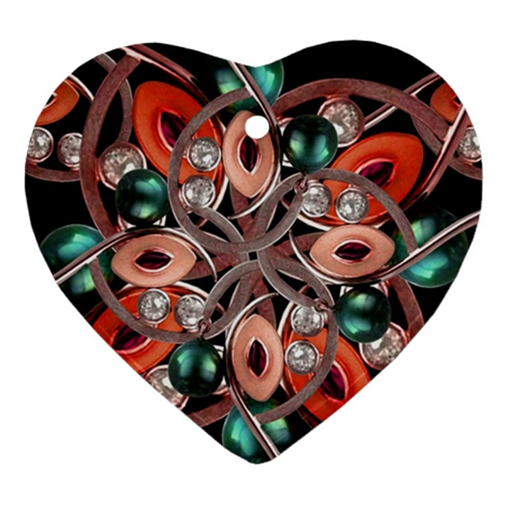 Luxury Ornate Artwork Heart Ornament (Two Sides)