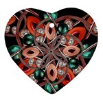 Luxury Ornate Artwork Heart Ornament (Two Sides) Back