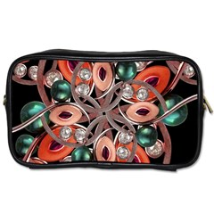 Luxury Ornate Artwork Travel Toiletry Bag (Two Sides)