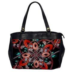 Luxury Ornate Artwork Oversize Office Handbag (one Side)