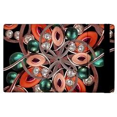 Luxury Ornate Artwork Apple Ipad 2 Flip Case
