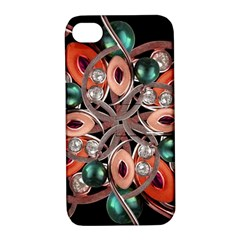 Luxury Ornate Artwork Apple Iphone 4/4s Hardshell Case With Stand