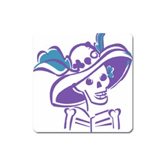 Day Of The Dead Magnet (Square)