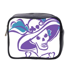 Day Of The Dead Mini Travel Toiletry Bag (Two Sides)