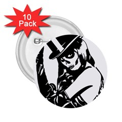 Day Of The Dead 2.25  Button (10 pack)