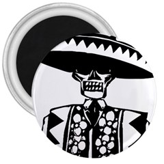 Day Of The Dead 3  Button Magnet