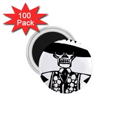 Day Of The Dead 1.75  Button Magnet (100 pack)