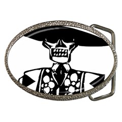 Day Of The Dead Belt Buckle (Oval)