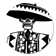 Day Of The Dead Magnet 5  (Round)