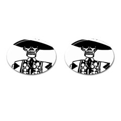 Day Of The Dead Cufflinks (Oval)