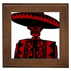 Day Of The Dead Framed Ceramic Tile